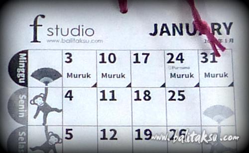 今年の創立記念日は、カレンダーを作りました。
