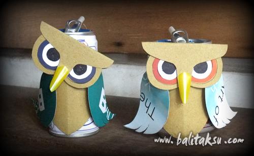 Membuat Burung Hantu - Recycle Project Bersama Anak-Anak
