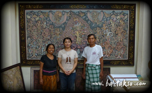 "alt=""I Ketut Madra and Traditional Balinese Wayang Painting"""